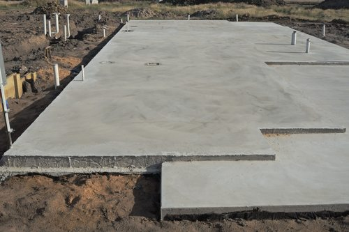Concrete slab foundations installation repair aaa for Poured wall foundation