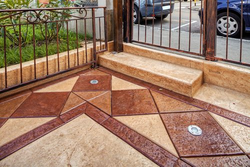 stamped concrete area in Los Angeles CA