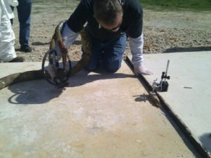 Concrete leveling with foam