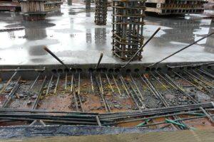 concrete foundation pouring